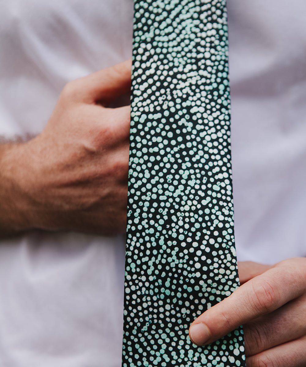 Wakapulkatjara Silk Tie by Molly Miller
