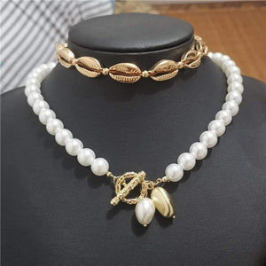 ARTIFICIAL PEARL AND BEADS NECKLACE CHOKER WITH RHINESTONE CRYSTAL UK SELLER