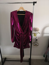 Load image into Gallery viewer, Pink Metallic Mini Dress