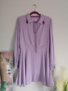 Lilac Long Sleeve Mini Dress