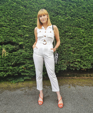 Load image into Gallery viewer, White Sleeveless Jumpsuit