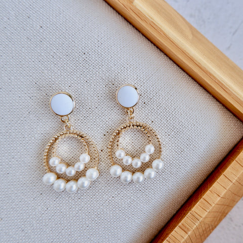 Circle Statement Drop Earrings