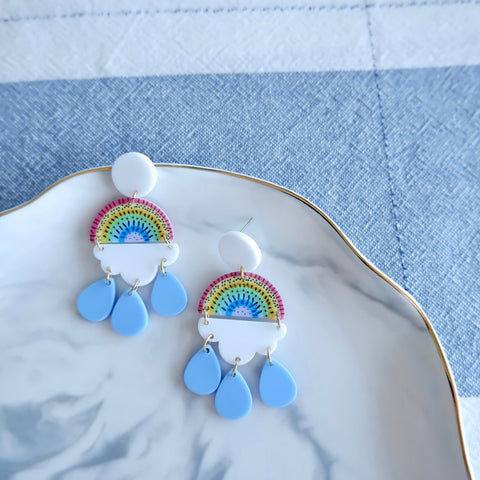 Cartoon Rainbow Dangle Earrings