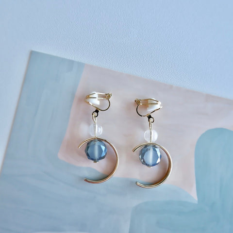 Sapphire Blue Celestial Clip-on Earrings