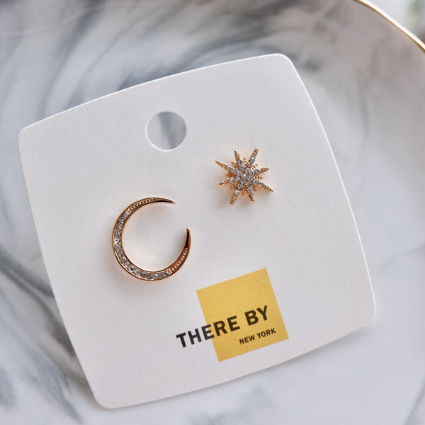 Rose Gold Starlight Statement Stud Earrings