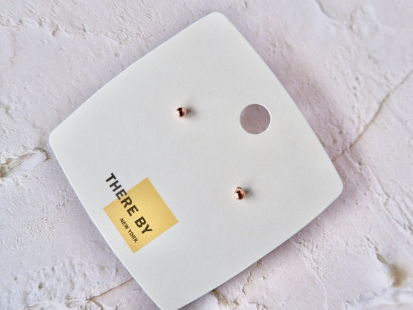 Rose Gold Color Classic Stud Earrings