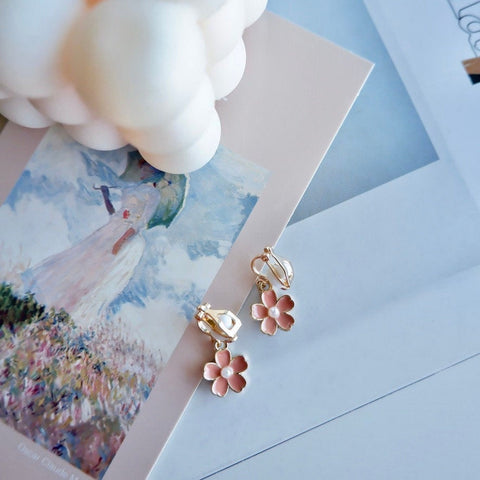 Dainty Flower Clip-on Earrings
