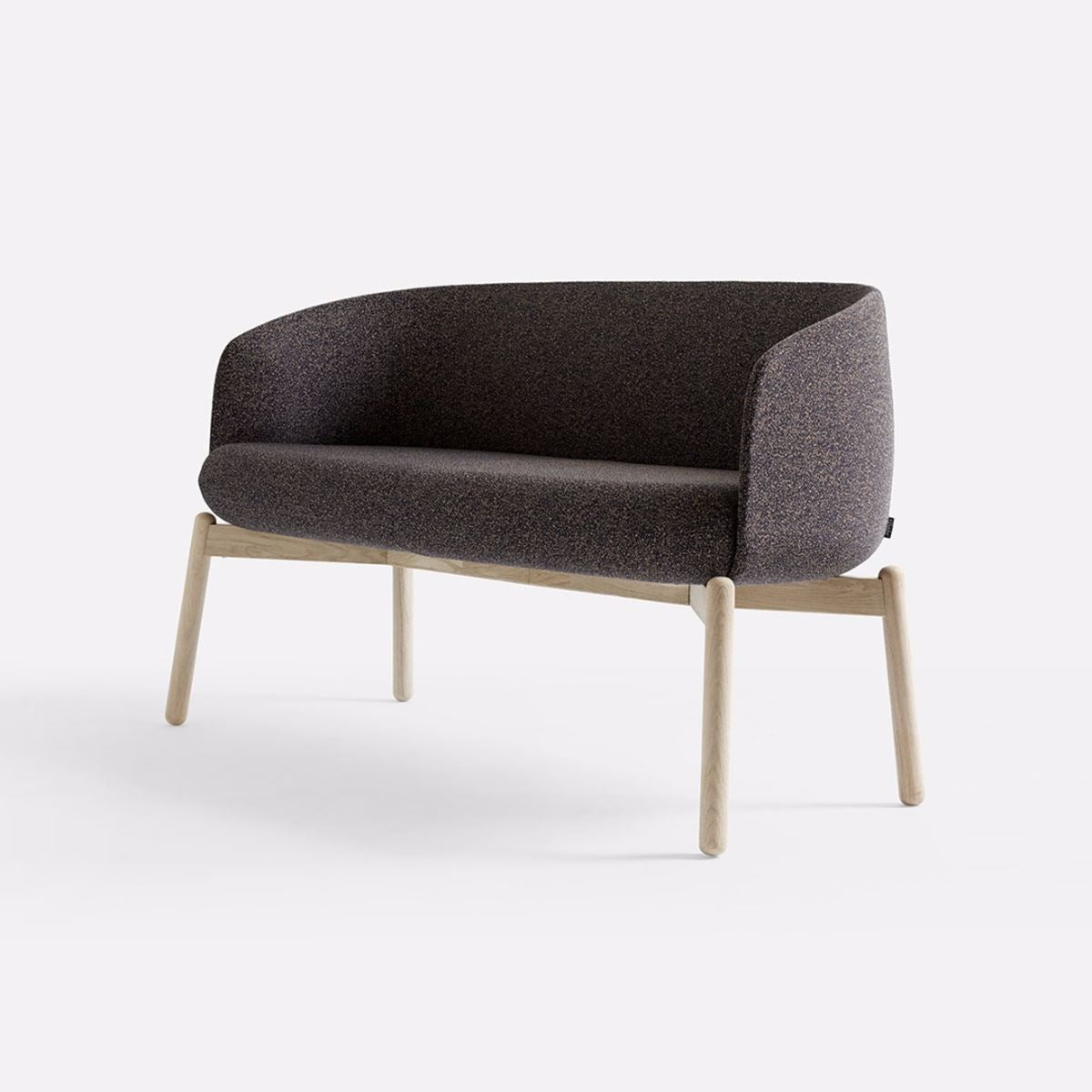 +Halle Low Nest Sofa Chair Wood Finish