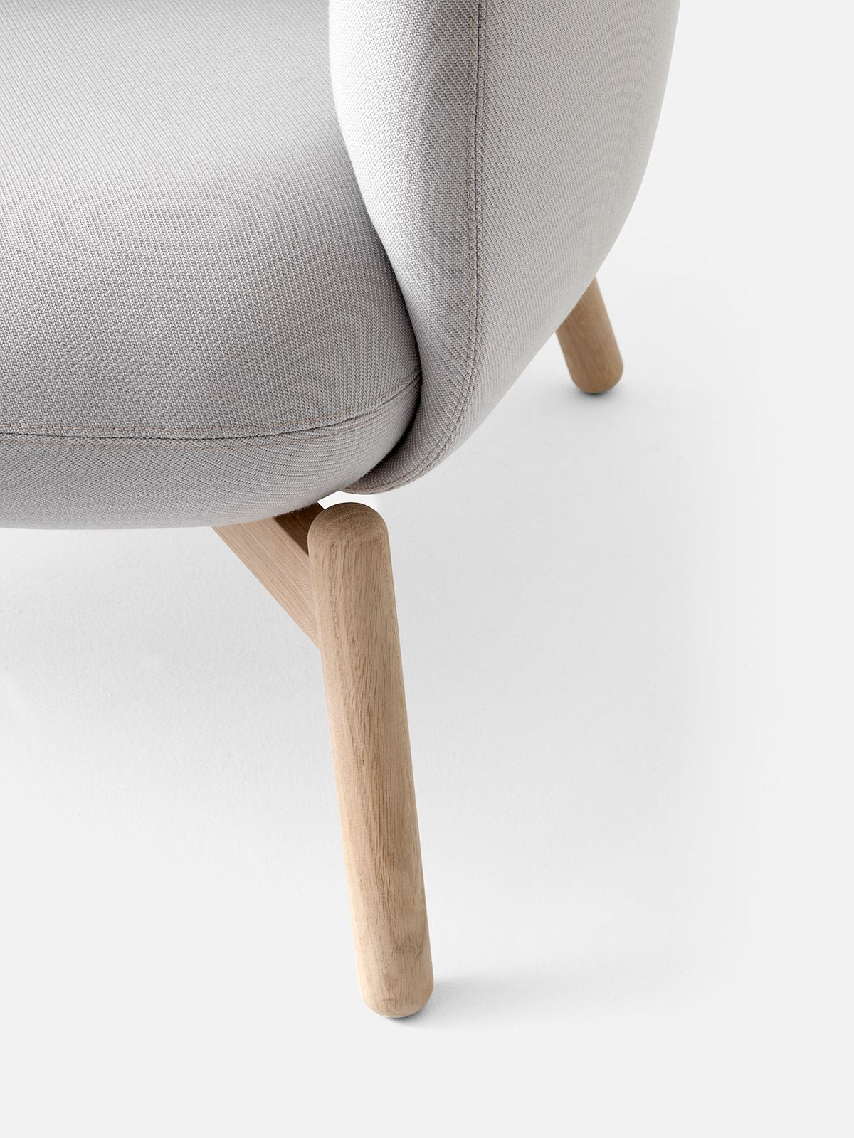+Halle Easy Nest XL Chair Wood Finish