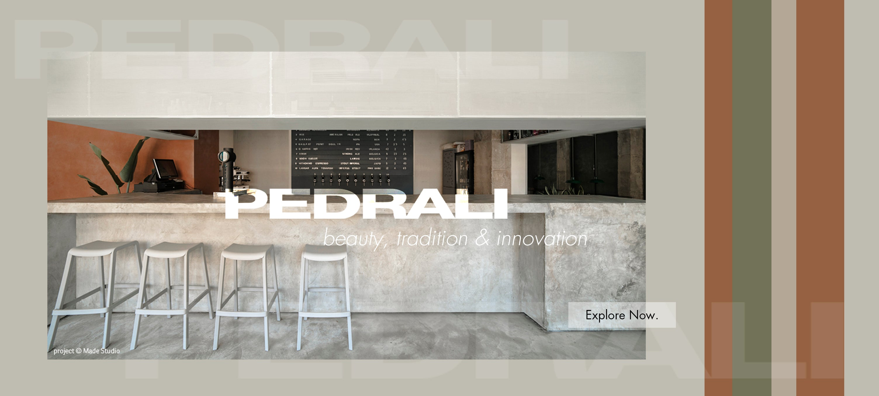 Hospitality Pedrali Banner image