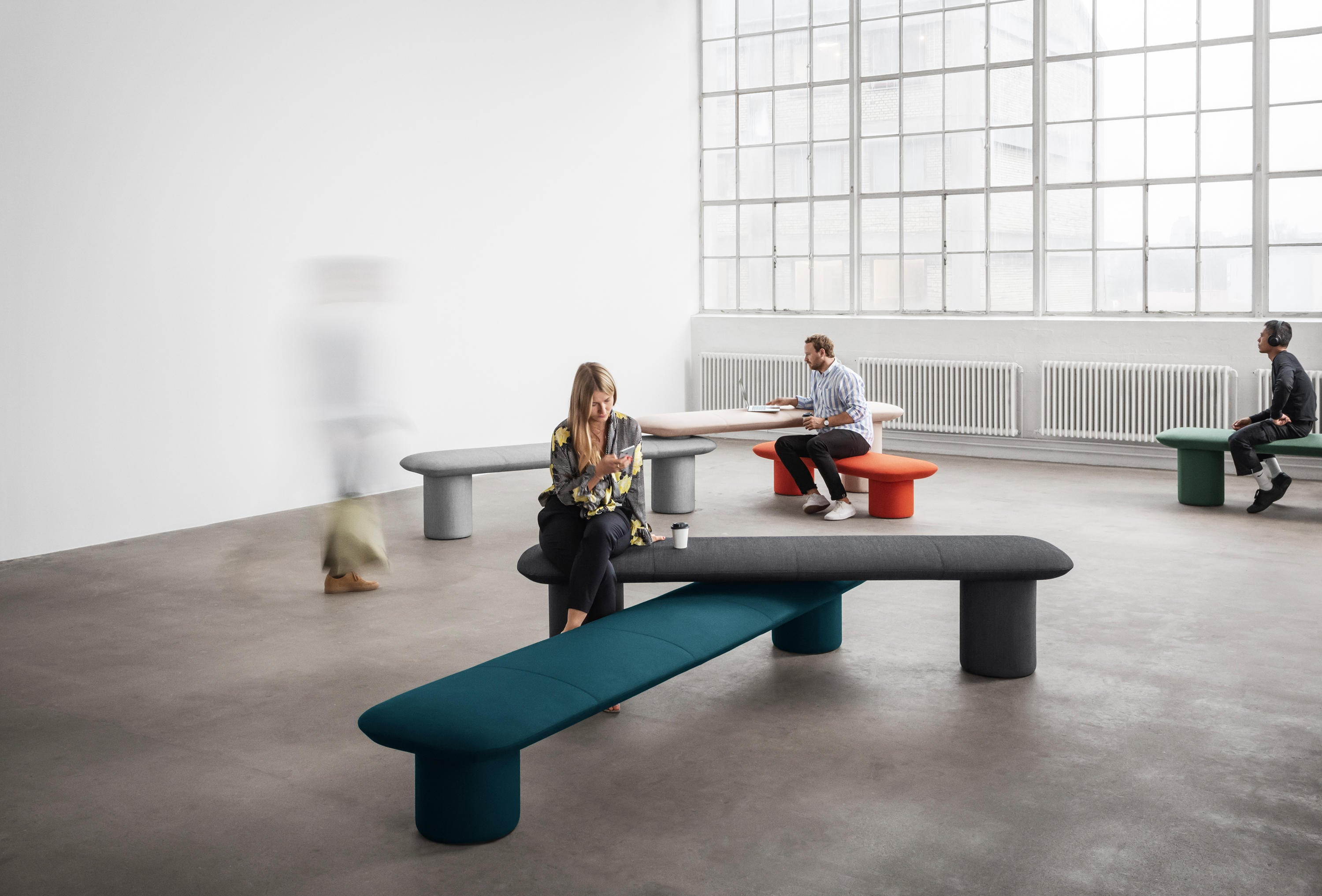 +Halle Levels Modular Bench Seating