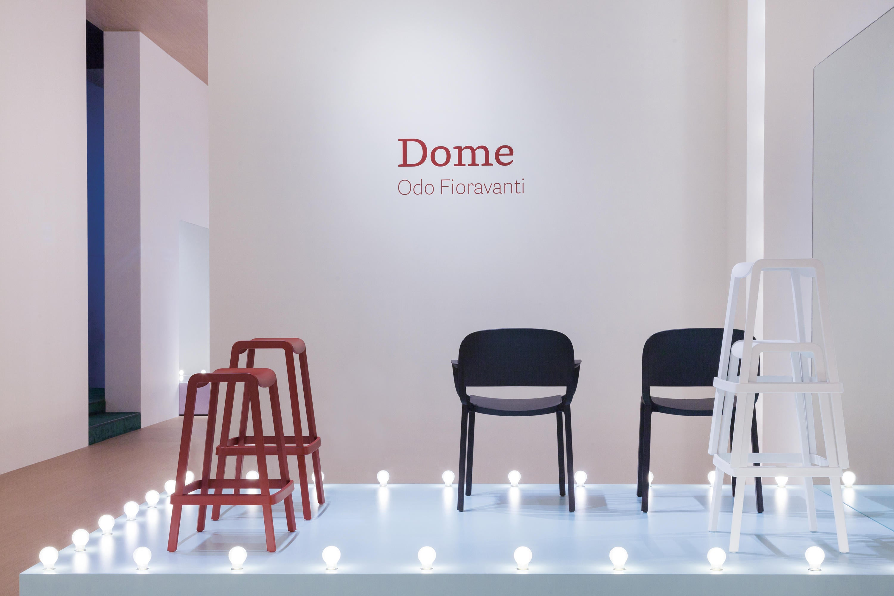 Pedrali Dome 267 High Outdoor Barstool