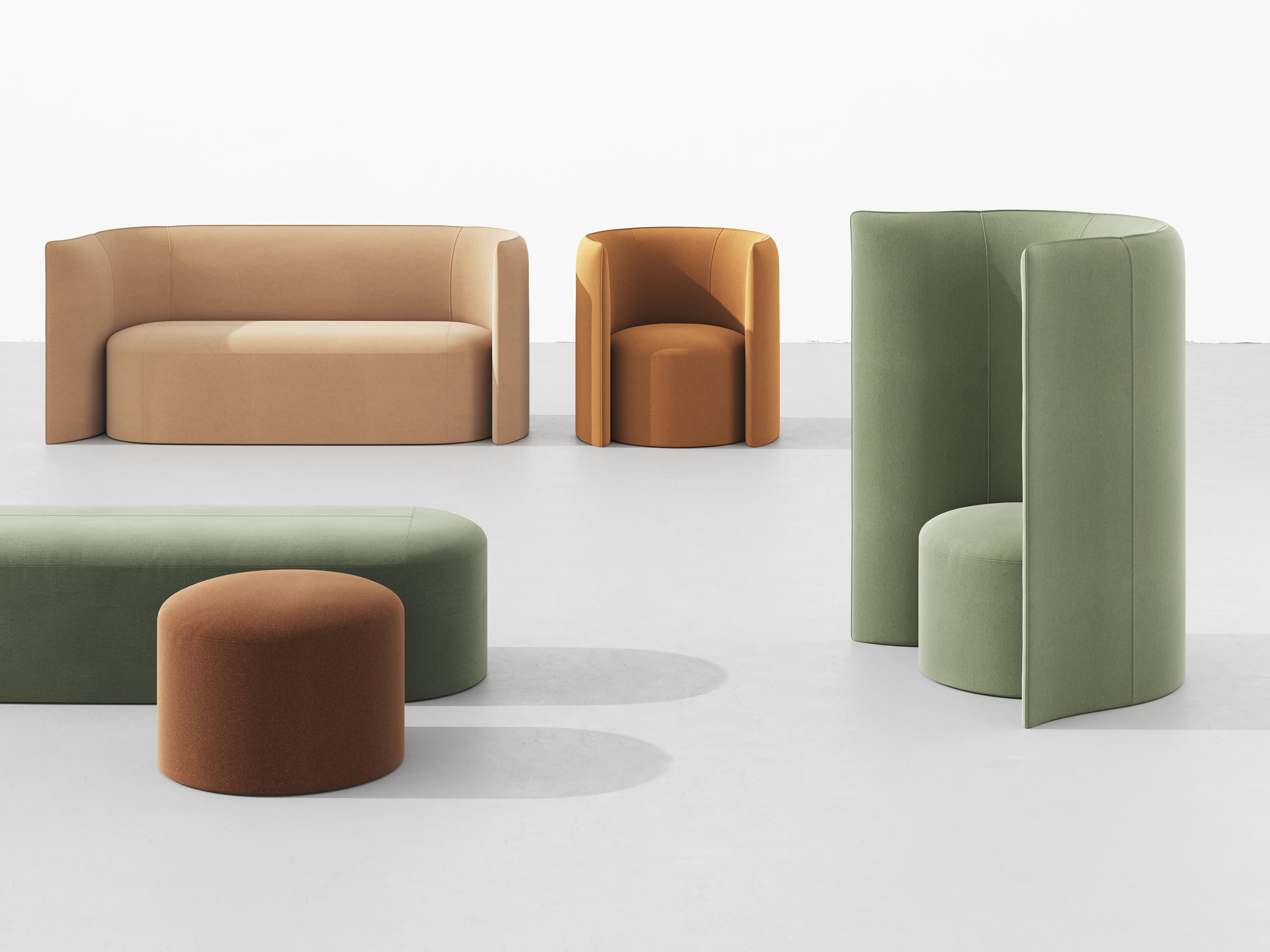 +Halle Proto Bench Soft Seating
