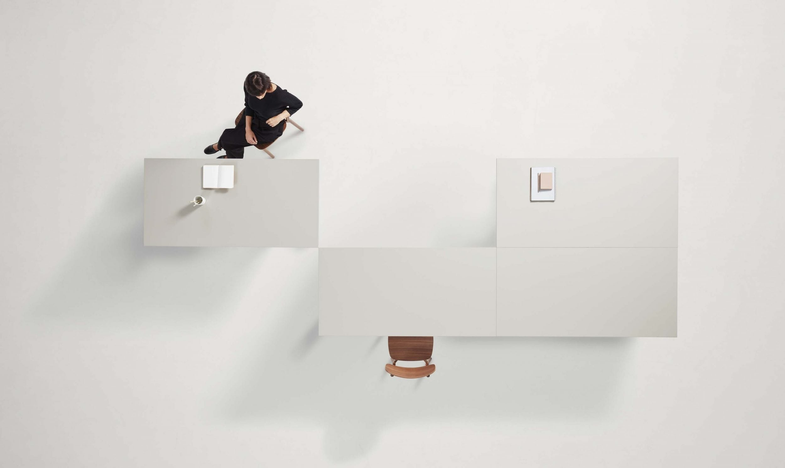 Thinking Works OkiDoki Flip & Fold Meeting Table