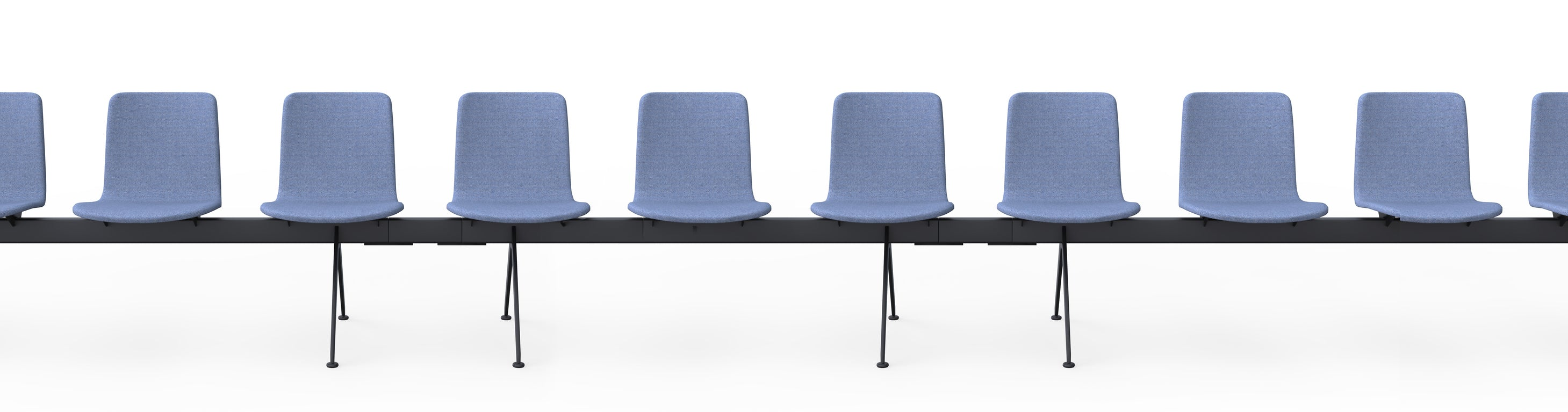Martela Sola Beam Connected Seating Chair