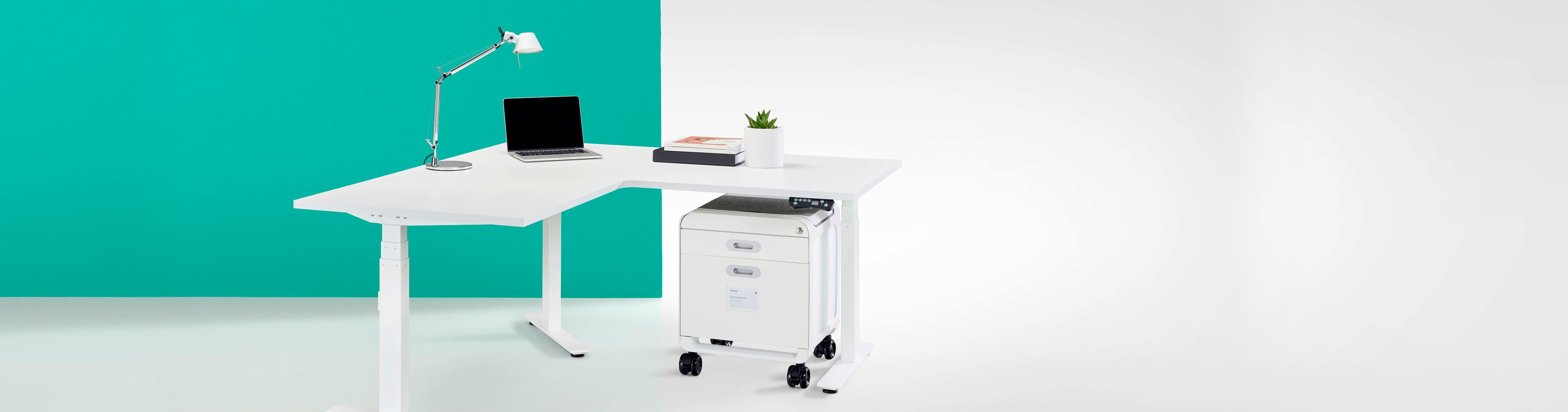 Thinking Works Elevation Electric Workstation 90 Degree Corner Desk