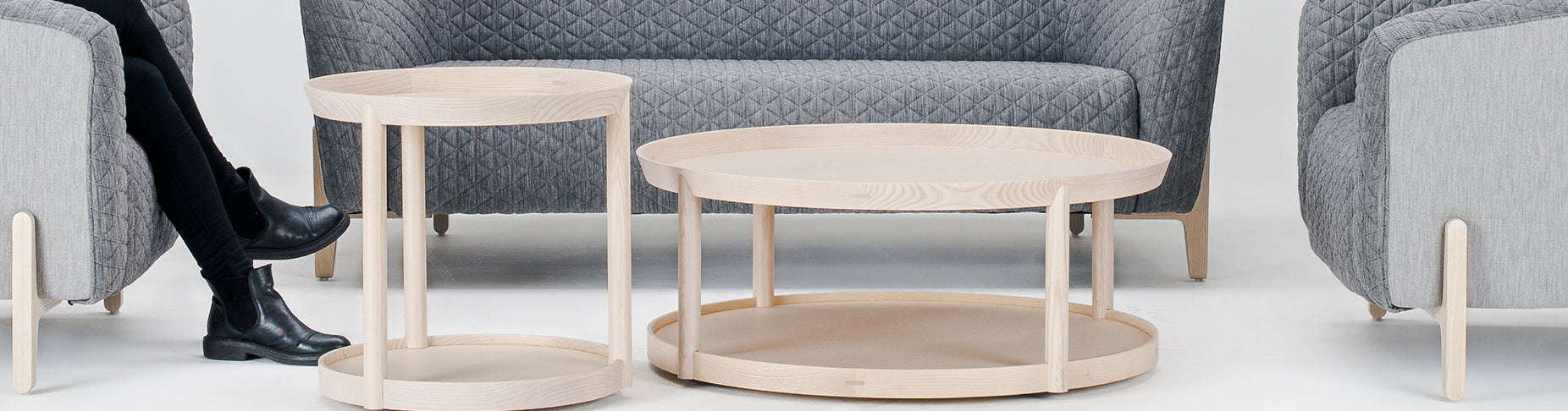 Offecct Archipelago Coffee Side Wood Table