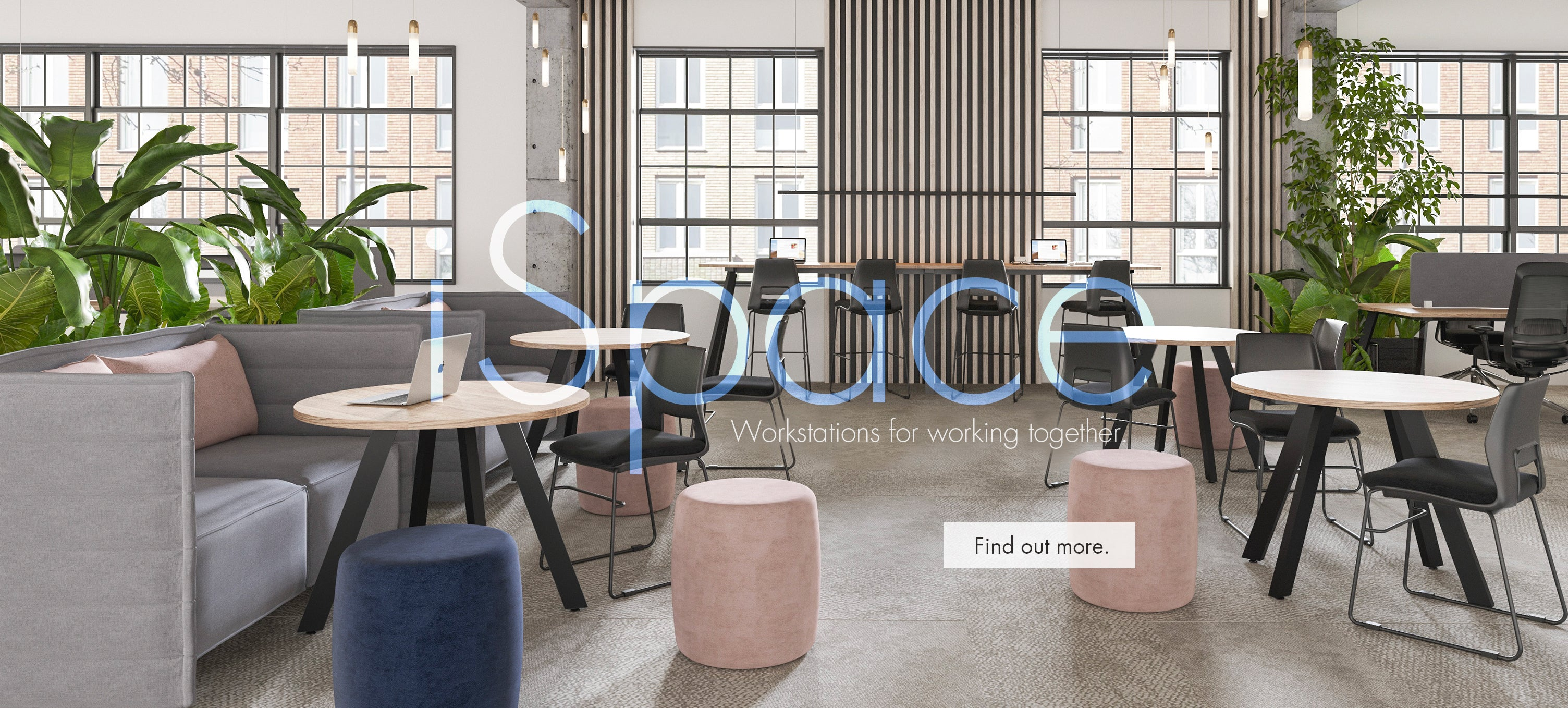 iSpace workstations and tables coworking space furniture