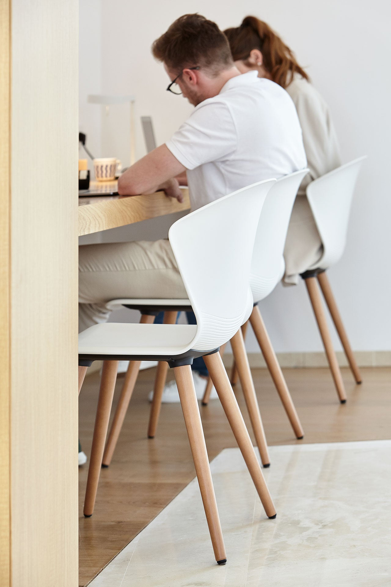 Actiu Whass Wooden Legs 4 Point Education Chair Collaborative Space