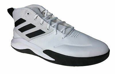 Adidas Men's Own the Game Basketball Athletic Shoes White Black Size 12