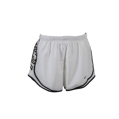 Nike Women's Standard Fit Just Do It Tempo Shorts White Black Size Large