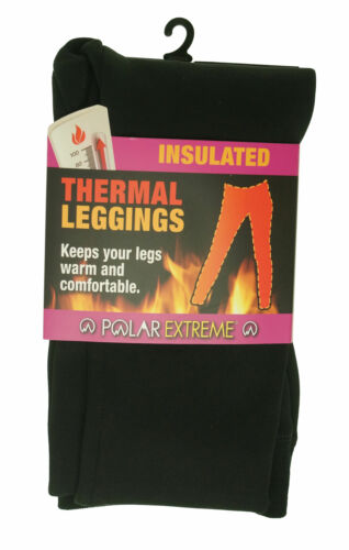 Polar Extreme Women's Thermal Fleece Lined Stretch Leggings Black