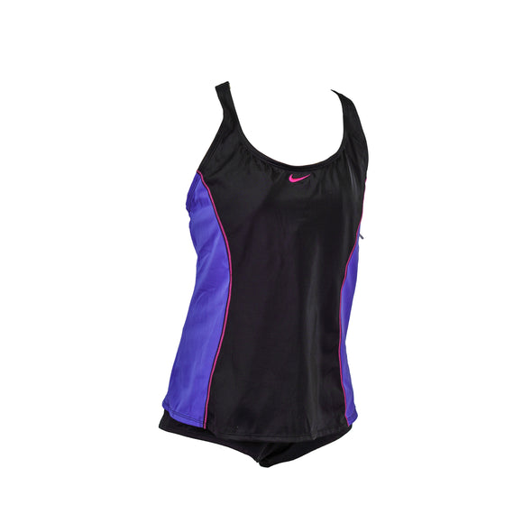 Nike Women's Tankini Short Swim Set Purple Black Size XL