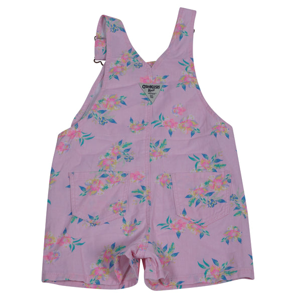 OshKosh B'Gosh Toddler Girl Floral Shortalls Pink Multi Size 4T