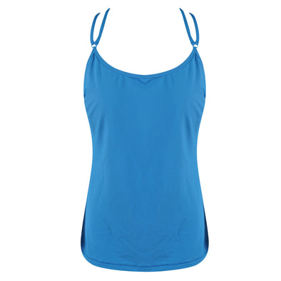 Athleta Women's Cloudbreak Rib Bra Sized Tankini Blue