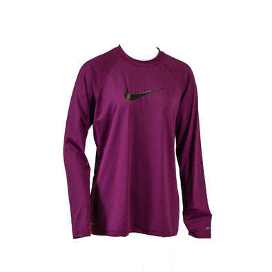 Nike Women's Long Sleeve Crew Neck UPF 40+ Swim Shirt Purple Size Large