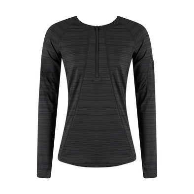 Athleta Women's Long Sleeve Pacifica UPF 50+ Crew Neck Top Dark Gray