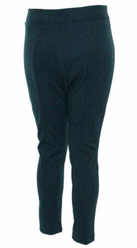 Anne Klein Women's Herringbone Knit Skinny Pants Navy Blue