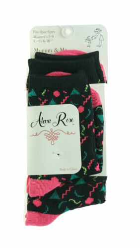 Alexa Rose Mommy & Me Socks Toddler & Girl Sizes 90s Party