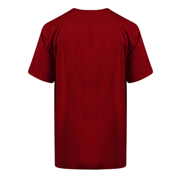 Nike Men's Short Sleeve Crew Neck Graphic Cotton T Shirt Red Black Size 3XL
