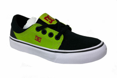 DC Boy's Lace Up Trase SE Skateboarding Sneakers Black Green Red