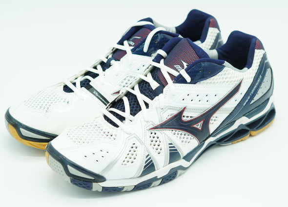 Mizuno Men's Wave Tornado 9 Indoor Volleyball Shoes Blue White Red Size 17