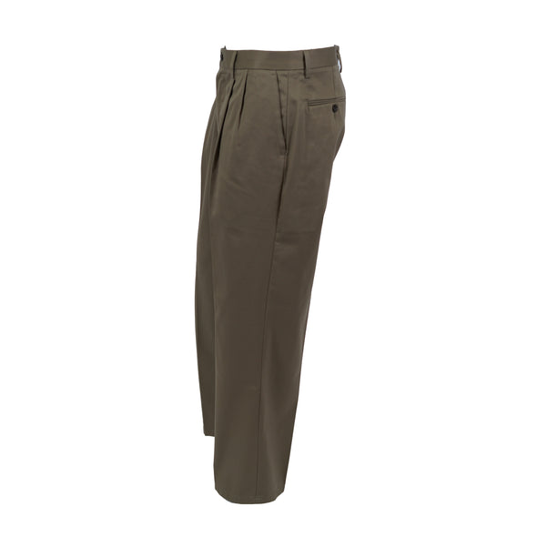 Dockers Men's Signature Khaki Relaxed Fit Pleated Chino Pants Dark Beige 33x30
