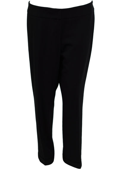 Kasper Women's Plus Size Cuffed Crepe Dress Pants Black