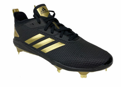 Adidas Men's Adizero Afterburner V Baseball Cleats Black Gold