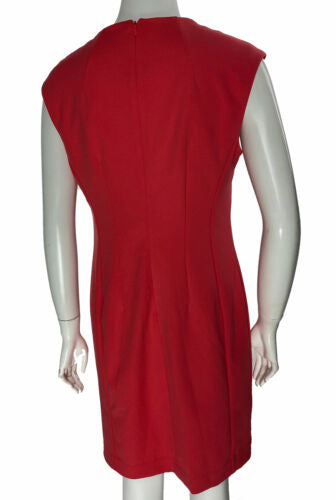 Calvin Klein Women's Petite Surplice Sheath Dress Pink Size 10P