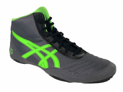 Asics Men's JB Elite V2.0 Wrestling Shoes Gray Black Green Size 11.5