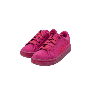 Puma Toddler Girl's Suede Classic Badge Sneakers Pink Size 6C