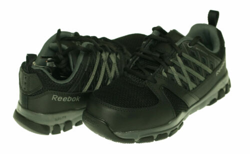 Reebok Men's Sublite Work Steek Toe Athletic Shoes Black Gray Size 4.5
