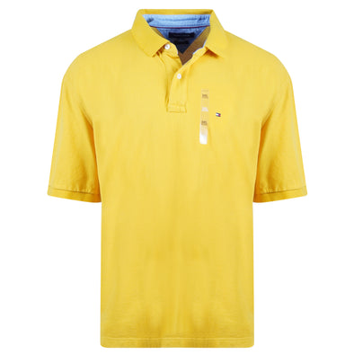 Tommy Hilfiger Men's Classic Fit Short Sleeve Polo Yellow Gold Size 3XL