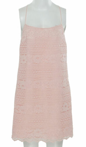1. Slate Women's Racerback Sleeveless Shift Lace Dress Pink Taffeta