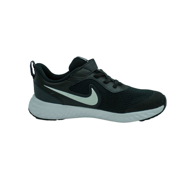 Nike Kid's Revolution 5 Running Athletic Shoes Black White Size 3Y