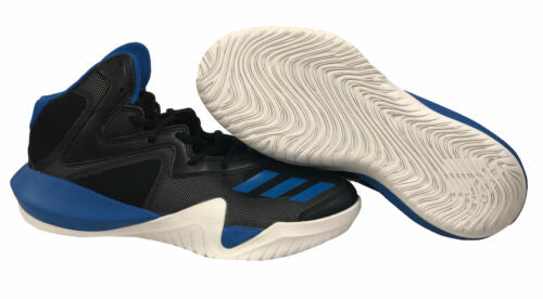 Adidas Big Kid's Crazy Team Basketball Athletic Shoes Black Blue Size 7