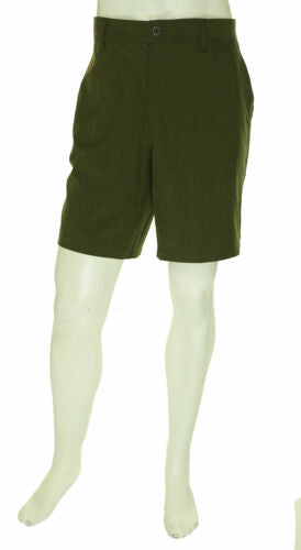 32 Cool Men's Performance Stretch Wicking Shorts Olive