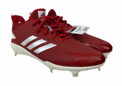 Adidas Men's Adizero Afterburner Baseball Cleats Red White Size 12