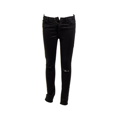 Hudson Junior's High Waist Barbara Super Skinny Boutique Denim Jeans Black 27